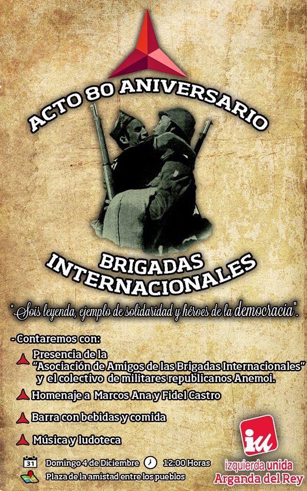 80 Aniversario Brigadas Internacionales Cartel