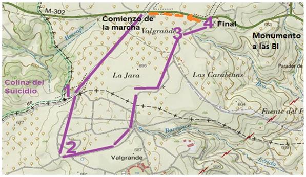 Homenaje Jarama80 - Mapa marcha