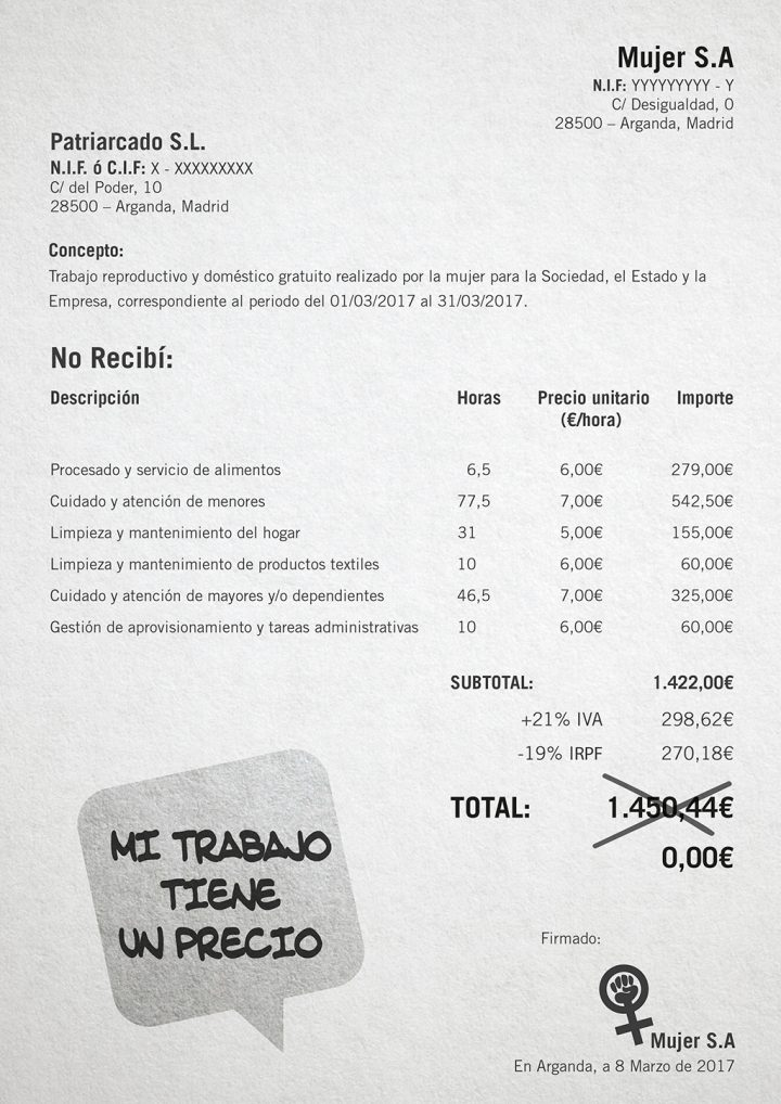 IU Arganda - Factura 8M - Mi trabajo tiene un precio