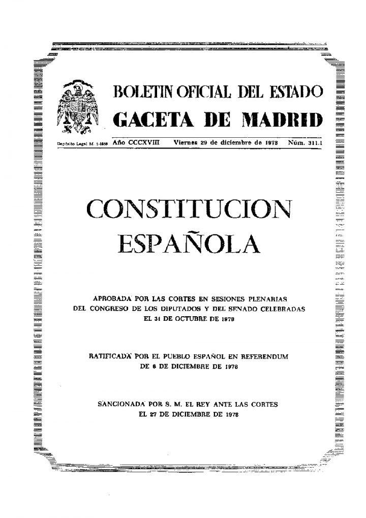 Constitucion original de 1978
