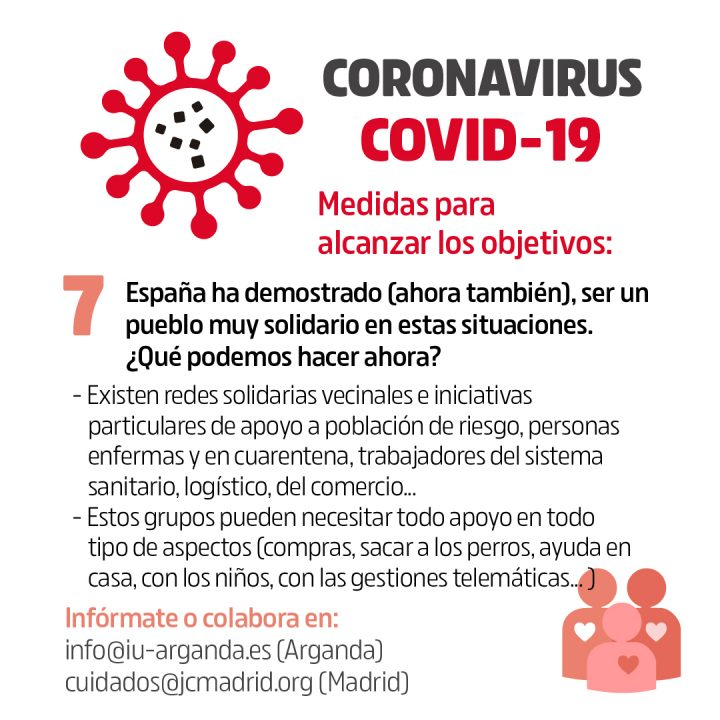 Coronavirus Objetivos y medidas 7