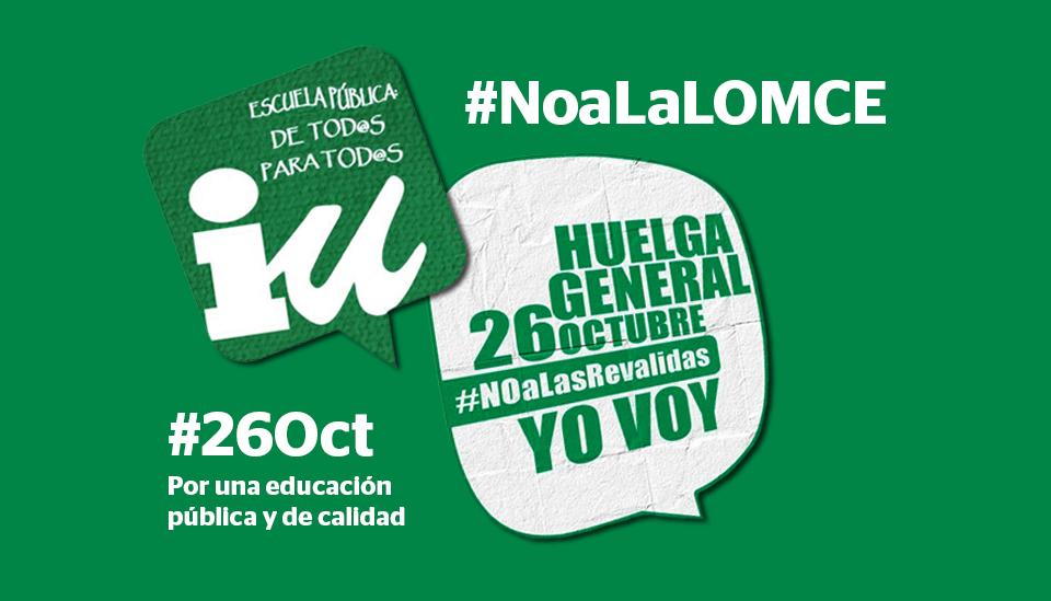 #NoaLaLOMCE