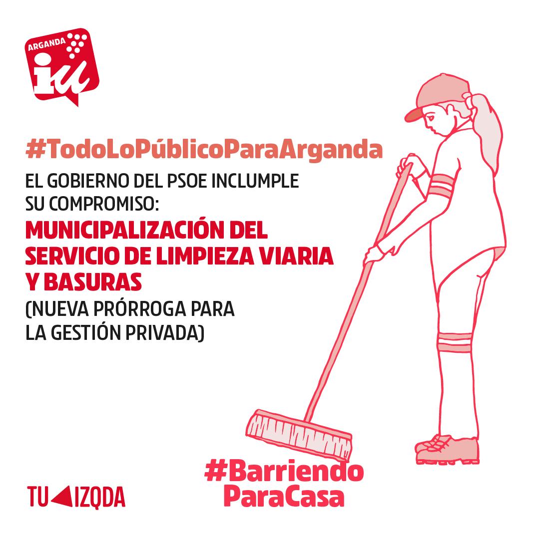 Remunicipalización de la gestión del servicio de limpieza viaria y basuras