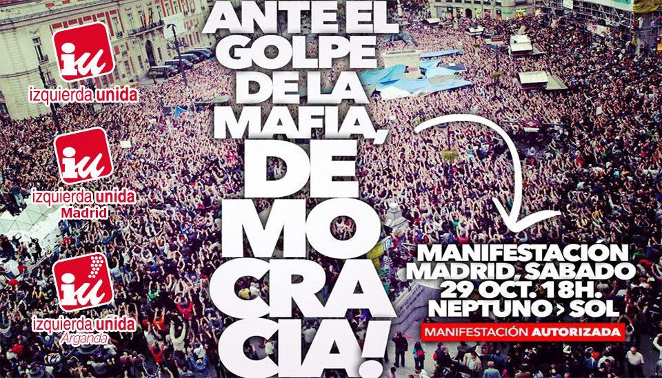 #29Oct Convocatoria manifestación Investidura