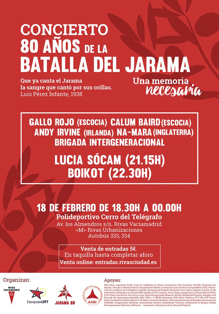 Homenaje Jarama80 - Cartel concierto