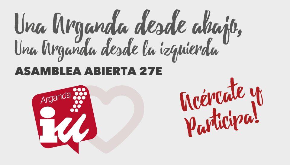 Asamblea Abierta Izquierda Unida Arganda 27E