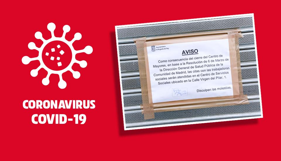 Cierre de Centros de día de mayores en la CAM por Coronavirus