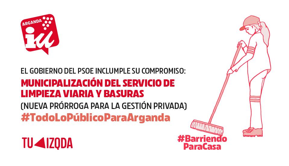 El gobierno del PSOE concede una nueva prórroga de la gestión privada del servicio de limpieza viaria y basuras