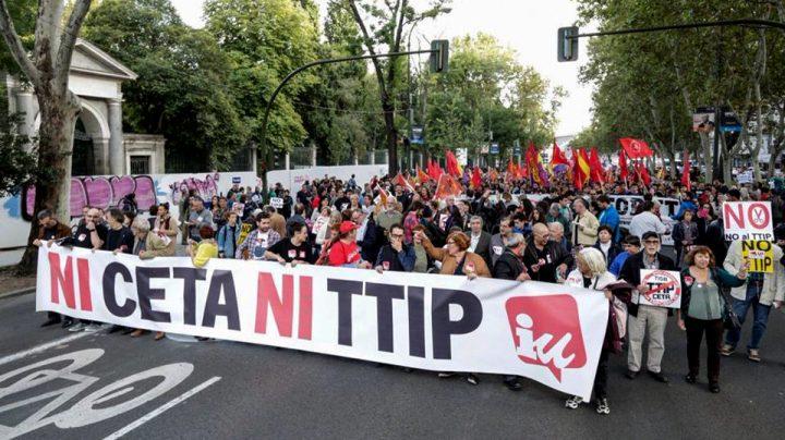 IU Arganda - Manifestación contra TTIP, CETA y TISA 01
