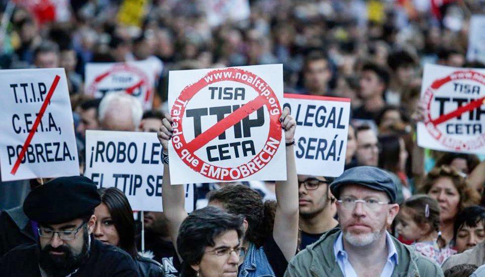 Manifestación contra el TTIP, CETA y TISA
