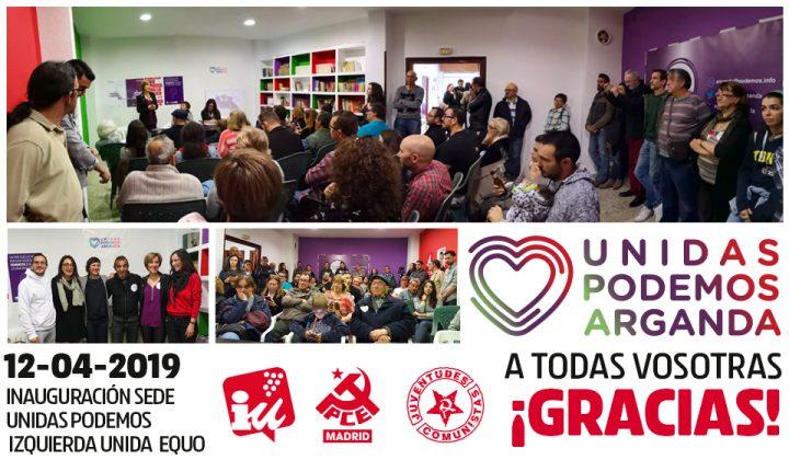 Unidas Podemos Arganda - Estreno Sede